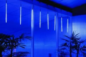 Sada 6 LED trubic 50cm, efekt padající sníh
