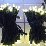 Vánoční venkovní stálesvítící světelný řetěz